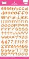 Pink Paislee - Holly Doodle Stickers Alfabeto - orange