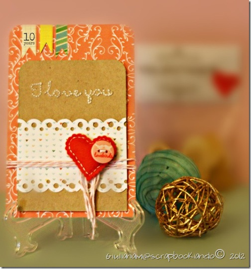 scrapbookiando - card Giuliana