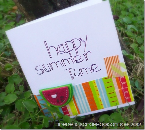 Summer card- Irene