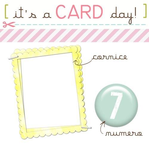 scrapbookiando sfida card - cornice numero